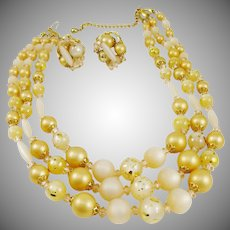 Outstanding Mid-Century Demi Parure by Judy Lee