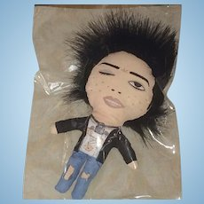 Sid Vicious OOAK Doll by Wasabi - Sex Pistols Punk Rock Artist Doll