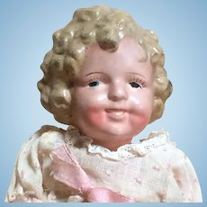 "Shirley Temple 8"" Compo Doll - Molded Hair - Made In Japan"