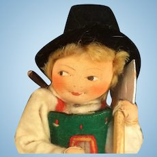 Ronnaug Petterssen Woodsman - Tagged Early Cloth Doll - Norway