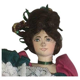 Gladys Boalt Can Can Dancer - Cloth Doll Ornament 2002