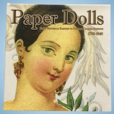 Paper Dolls 1790-1940 by Florence Theriault - Hardcover Book