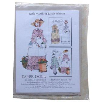 Little Women BETH Paper Doll by Donald Hendricks - Still Sealed