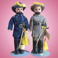Carlson Civil War Generals Dolls - Union & Confederate Soldiers - Tagged
