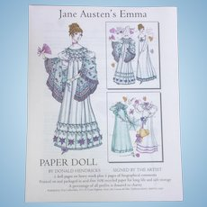 Jane Austen's Emma Paper Doll By Donald Hendricks