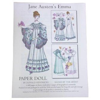 Jane Austen's Emma Paper Doll By Donald Hendricks