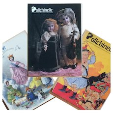 3 Polichinelle Antique Doll Magazines 1992-94 - Bleuette SFBJ - French / English