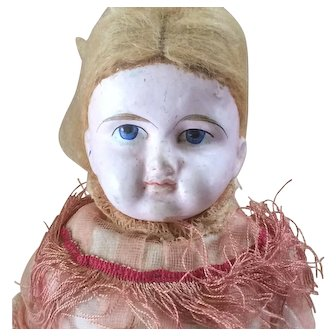 Antique Composition Shoulder Head Doll with Original Clothing