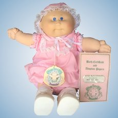 Cabbage Patch Preemie by Coleco 1980s - Bev Elnora w/ Papers