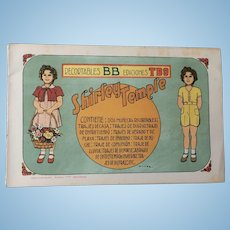 Vintage Shirley Temple Paper Doll - Barcelona Spain - Uncut