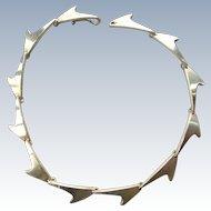 BENT KNUDSEN Modernist Sterling Silver Necklace (Bent K) Denmark