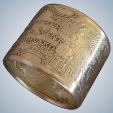 """Old Mother Hubbard"" Sterling Silver Nursery Rhyme Napkin Ring"