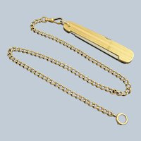 14K Gold Watch Chain & Pocket Knife