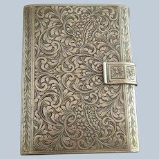 Italian Ornately Engraved 800 Silver Cigarette Case