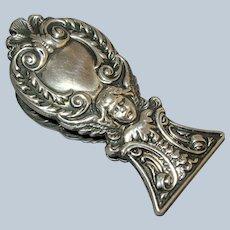 Victorian Sterling Silver Angel Cherub Desk Letter Paper Clip