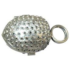 Sterling Silver Nut Form Nutmeg Grater
