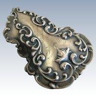 Gorham Victorian Sterling Silver Repousse Letter Paper Desk Clip