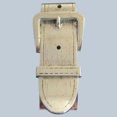 Vintage Sterling Silver Figural Buckle Money Clip
