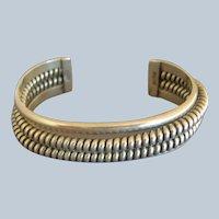 Vintage Navajo TAHE Sterling Silver COILED WIRE Bracelet