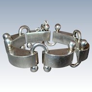 Vintage Mexican Modernist Sterling Silver Bracelet