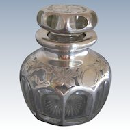 La Pierre Sterling Silver Overlay Bath Salt Bottle