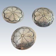 Bell Trading Post Sterling Buttons