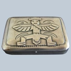 Vintage Native American Sterling Silver Knifewing Pillbox