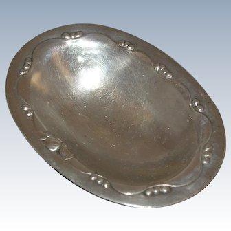 Georg Jensen Blossom Pattern Sterling Silver Open Salt