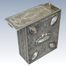 Rare Vintage Navajo Stamp Work Sterling Silver Cigarette Box