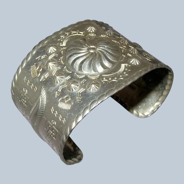 Wide Costume Navajo Style Harvey Era Cuff Bracelet