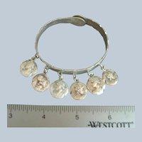 Antique SHIEBLER Sterling Silver Homeric Medallion Cuff Bracelet #581