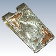 Gold & Sterling Silver Southwestern Money Clip