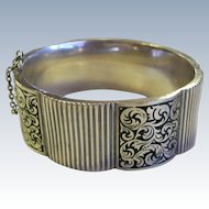 Topazio Enamel & Sterling Silver Bangle Bracelet