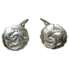 Georg Jensen Early Sterling Silver Cufflinks  #65   circa 1915-1930