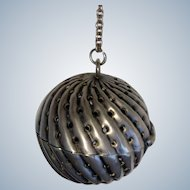 Sterling Silver Swirl Victorian Tea Ball (teaball)