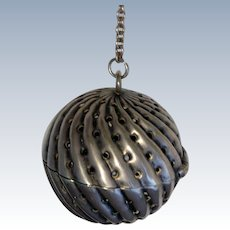 Sterling Silver Swirl Victorian Tea Ball (teaball)