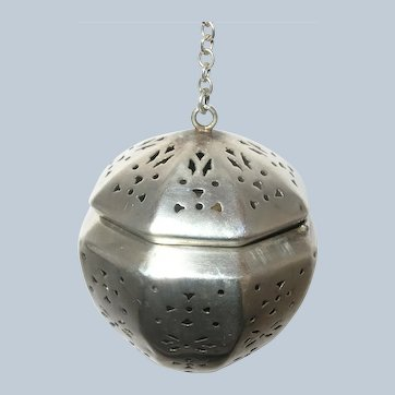 Antique Sterling Silver 8 Sided Blackinton Tea Ball