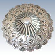 "Large (2.25"") Vintage Navajo Stamp Work Concho Pin"
