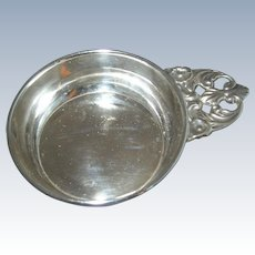 Antique 800 Silver Wine Taster / Tastevin - Unusual Small Size
