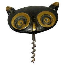 Vintage OWL Head Corkscrew