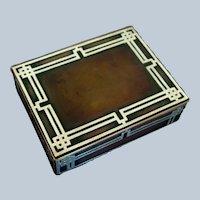 Heintz Arts & Crafts Sterling Silver Overlay on Bronze Box