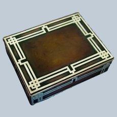 Heintz Arts & Crafts Sterling on Bronze Box