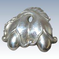 Early GEORG JENSEN Sterling Silver Double Blossom Pin Brooch #210