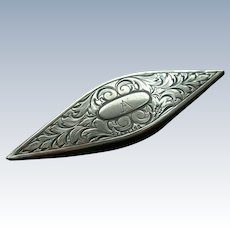 Sterling Silver Antique Webster Tatting Shuttle circa 1900.