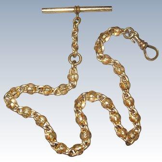 Victorian Gold Filled GF Fancy Link Watch Chain