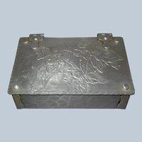 Vintage World Hand Forged Hammered Aluminum Box