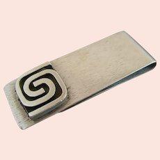 HAROLD FITHIAN fi Modernist Sterling Silver Money Clip