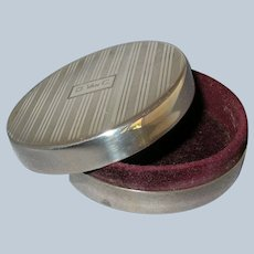 Vintage Sterling Silver Art Deco Trinket / Jewelry Cufflink Box