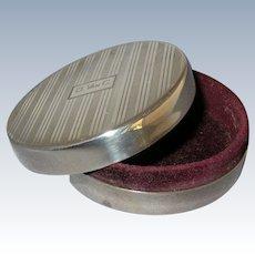 Vintage Sterling Silver Art Deco Trinket / Jewelry Box