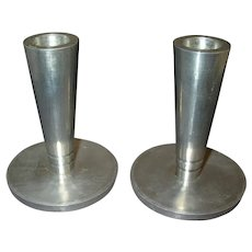 WENDELL AUGUST FORGE, INC Modernist Aluminum Candlesticks  1930's - Early 1940's